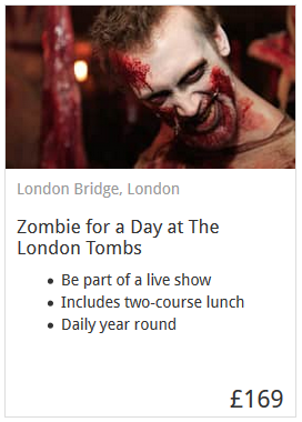 Zombie For A Day Experience London