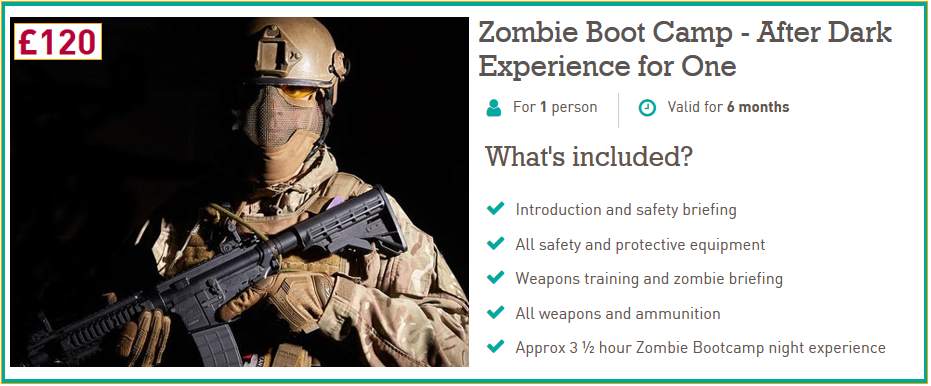 Zombie After Dark Experience for One